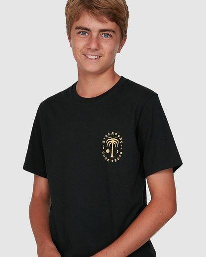 3 Boys Moon Palm Short Sleeve Tee Black 8504006 Billabong