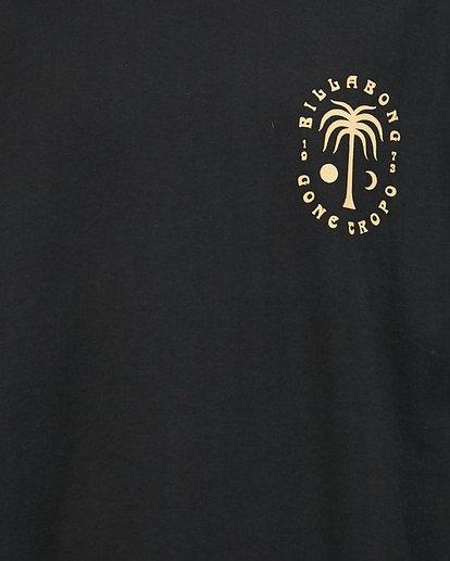 4 Boys Moon Palm Short Sleeve Tee Black 8504006 Billabong