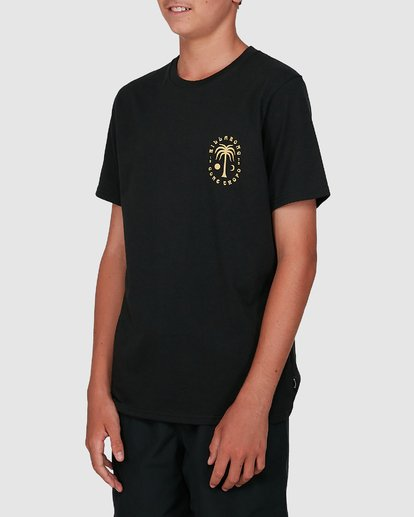 1 Boys Moon Palm Short Sleeve Tee Black 8504006 Billabong