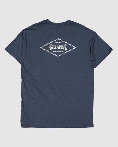 6 Boys Checked Diamond Short Sleeve Tee Blue 8504008 Billabong