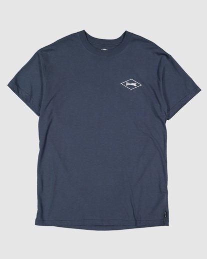 5 Boys Checked Diamond Short Sleeve Tee Blue 8504008 Billabong