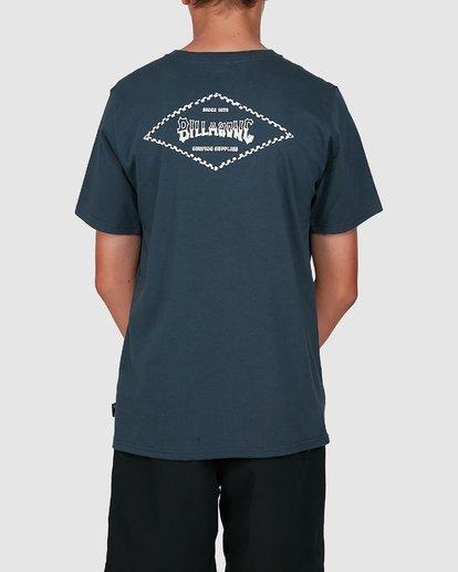2 Boys Checked Diamond Short Sleeve Tee Blue 8504008 Billabong