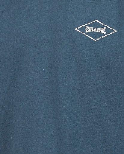 4 Boys Checked Diamond Short Sleeve Tee Blue 8504008 Billabong