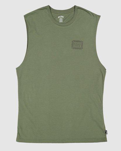 5 Boys Holy Smokes Muscle Tank Green 8504509 Billabong