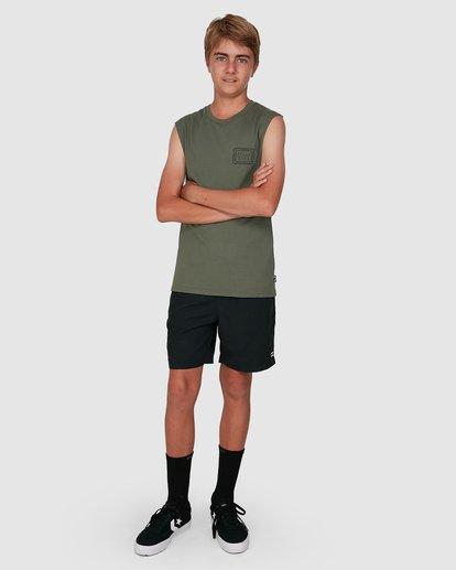 7 Boys Holy Smokes Muscle Tank Green 8504509 Billabong
