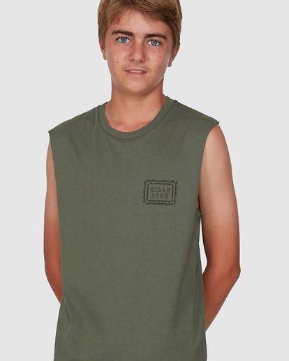 3 Boys Holy Smokes Muscle Tank Green 8504509 Billabong
