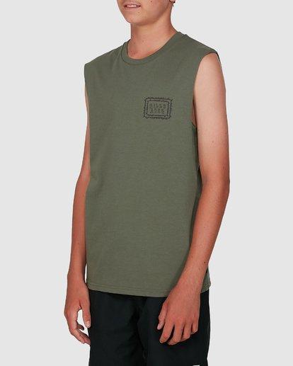 1 Boys Holy Smokes Muscle Tank Green 8504509 Billabong