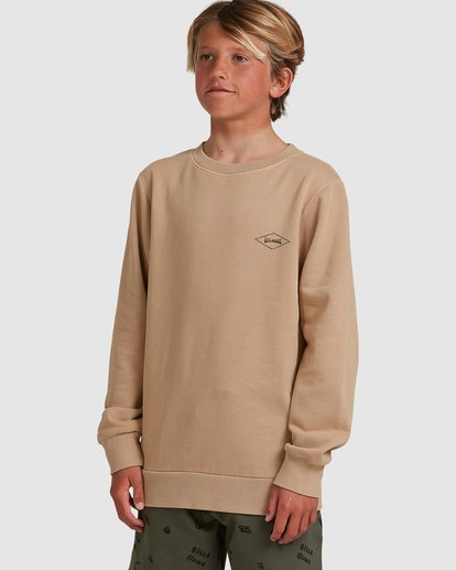 1 Boys Checked Diamond Crew Green 8504614 Billabong