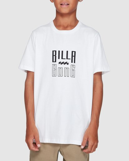 0 Boys Thousand Stack Tee White 8507015 Billabong