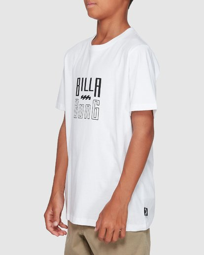 1 Boys Thousand Stack Tee White 8507015 Billabong