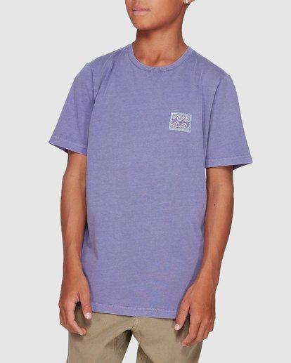 3 Boys Full Froth Tee Purple 8507040 Billabong