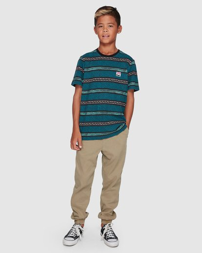 8 Boys Full Rack Short Sleeve Tee Blue 8507041 Billabong