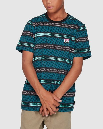 3 Boys Full Rack Short Sleeve Tee Blue 8507041 Billabong