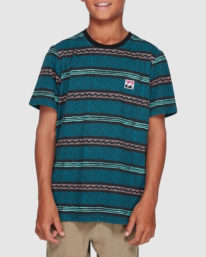 0 Boys Full Rack Short Sleeve Tee Blue 8507041 Billabong