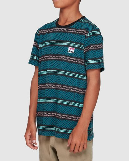 1 Boys Full Rack Short Sleeve Tee Blue 8507041 Billabong