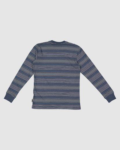 7 Boys Mix Up Stripe Long Sleeve Tee Blue 8507046 Billabong