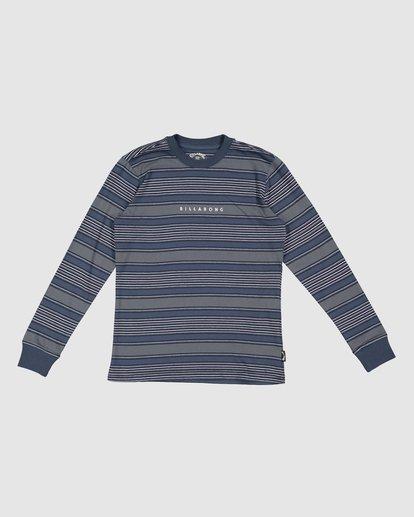 6 Boys Mix Up Stripe Long Sleeve Tee Blue 8507046 Billabong