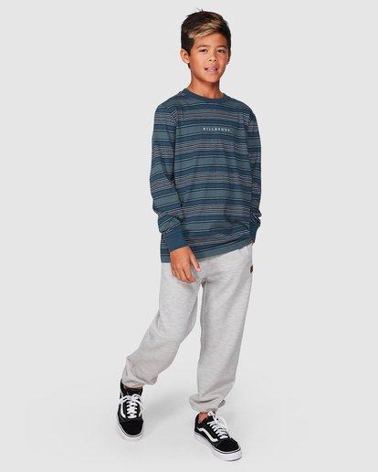 8 Boys Mix Up Stripe Long Sleeve Tee Blue 8507046 Billabong