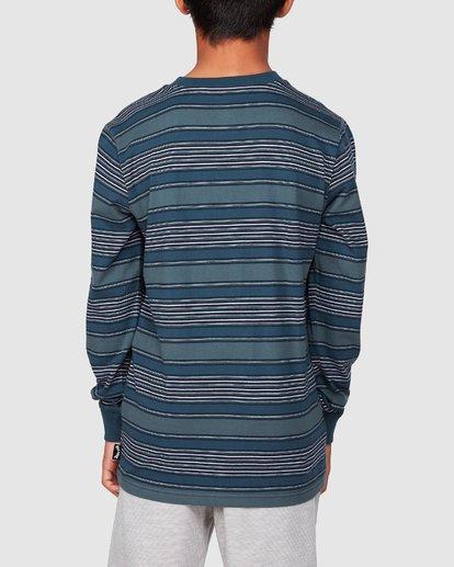 3 Boys Mix Up Stripe Long Sleeve Tee Blue 8507046 Billabong
