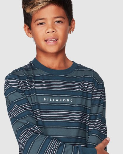 4 Boys Mix Up Stripe Long Sleeve Tee Blue 8507046 Billabong