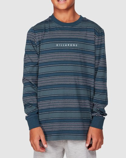 1 Boys Mix Up Stripe Long Sleeve Tee Blue 8507046 Billabong