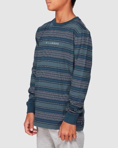 2 Boys Mix Up Stripe Long Sleeve Tee Blue 8507046 Billabong