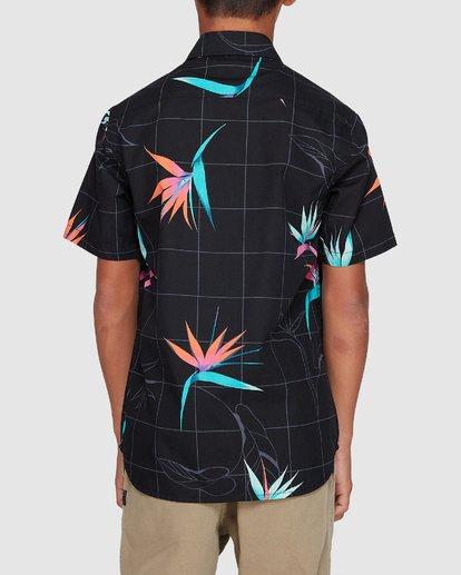 2 Boys Sundays Floral Short Sleeve Shirt Black 8507202 Billabong