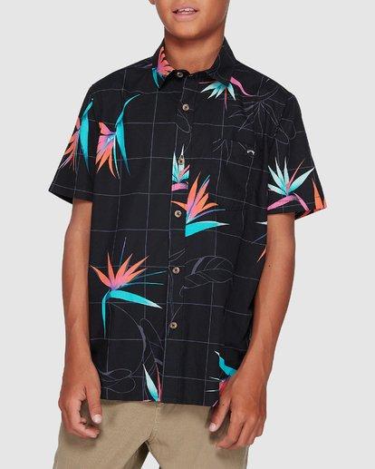 3 Boys Sundays Floral Short Sleeve Shirt Black 8507202 Billabong