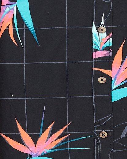 4 Boys Sundays Floral Short Sleeve Shirt Black 8507202 Billabong