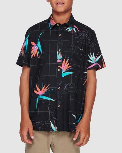 0 Boys Sundays Floral Short Sleeve Shirt Black 8507202 Billabong