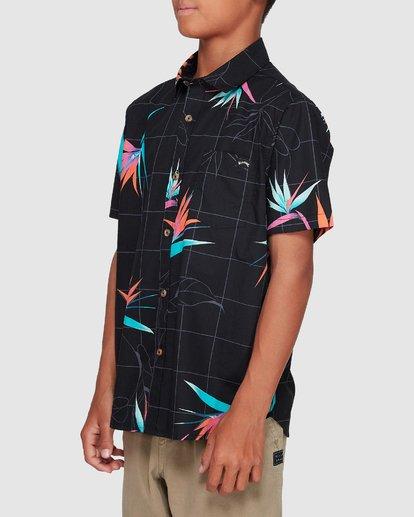 1 Boys Sundays Floral Short Sleeve Shirt Black 8507202 Billabong