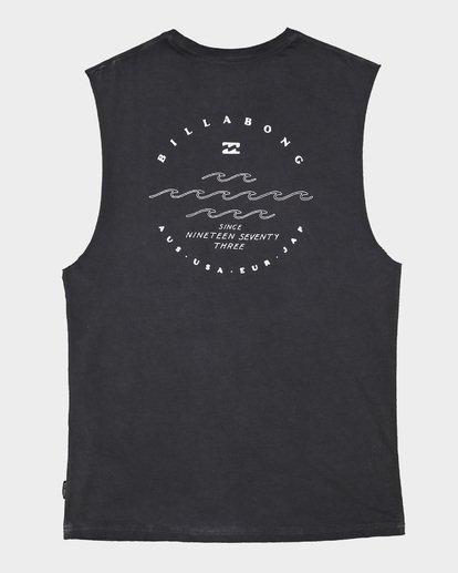 6 Boys Wavy Davy Muscle Tank Black 8507501 Billabong