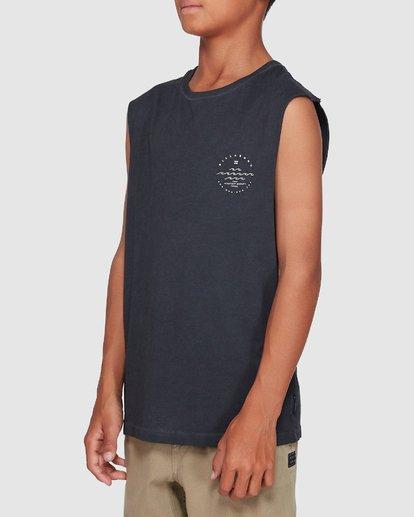 1 Boys Wavy Davy Muscle Tank Black 8507501 Billabong
