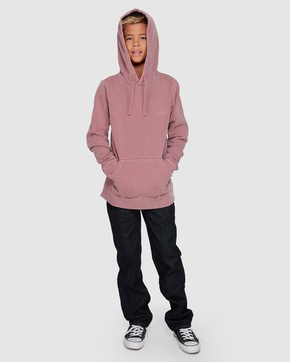 8 Boys Overdye Pop Hoodie Pink 8507608 Billabong