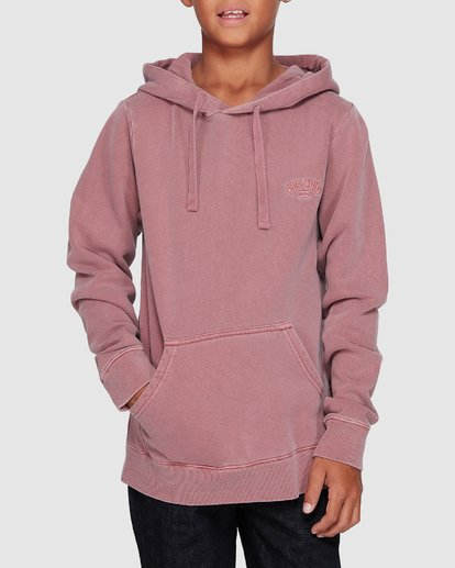 3 Boys Overdye Pop Hoodie Pink 8507608 Billabong