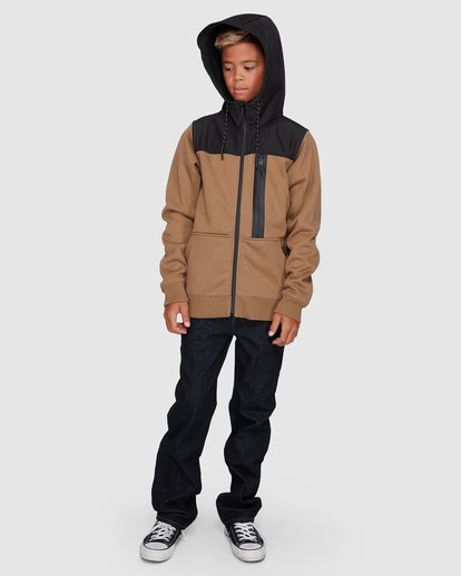 8 Boys Quadrant Furnace Zip Beige 8507621 Billabong