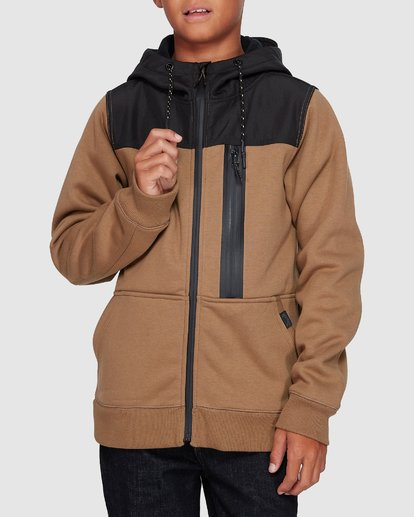 3 Boys Quadrant Furnace Zip Beige 8507621 Billabong
