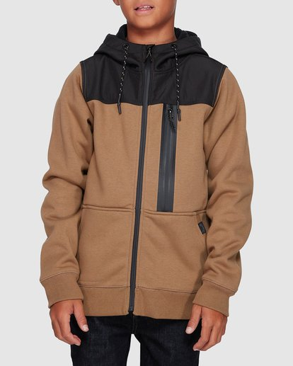 0 Boys Quadrant Furnace Zip Beige 8507621 Billabong