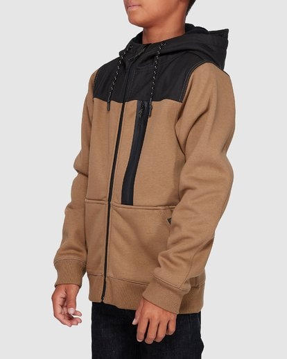 1 Boys Quadrant Furnace Zip Beige 8507621 Billabong