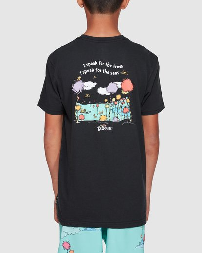 3 Dr. Seuss Speak For The Trees Short Sleeve Tee Black 8508001 Billabong