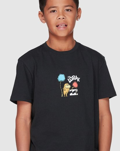 4 Dr. Seuss Speak For The Trees Short Sleeve Tee Black 8508001 Billabong