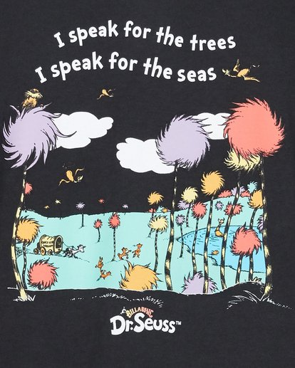 5 Dr. Seuss Speak For The Trees Short Sleeve Tee Black 8508001 Billabong