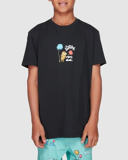 1 Dr. Seuss Speak For The Trees Short Sleeve Tee Black 8508001 Billabong
