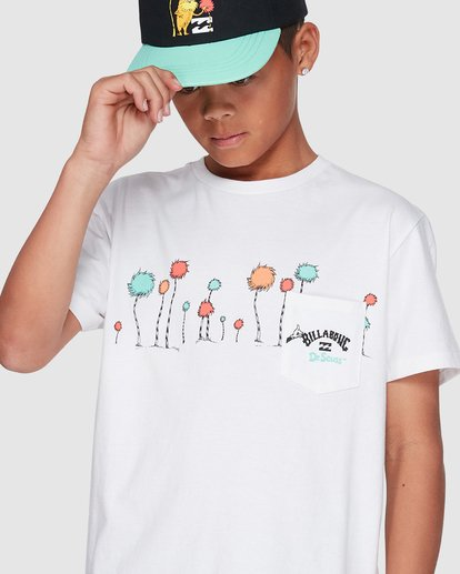 4 Dr. Seuss Truffula Short Sleeve Tee White 8508002 Billabong