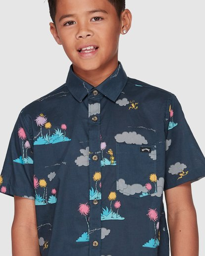 4 Dr. Seuss Lorax Island Short Sleeve Shirt Grey 8508200 Billabong