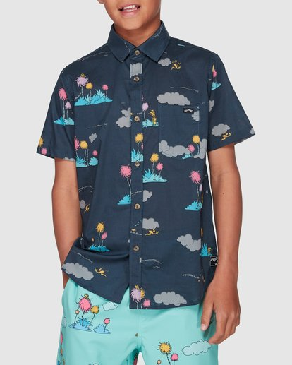 0 Dr. Seuss Lorax Island Short Sleeve Shirt Grey 8508200 Billabong