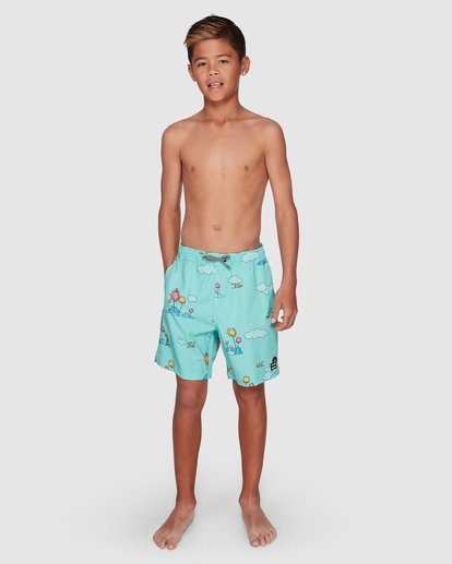 11 Dr. Seuss Lorax Sundays Layback Boardshorts Green 8508401 Billabong
