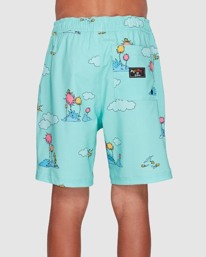 2 Dr. Seuss Lorax Sundays Layback Boardshorts Green 8508401 Billabong