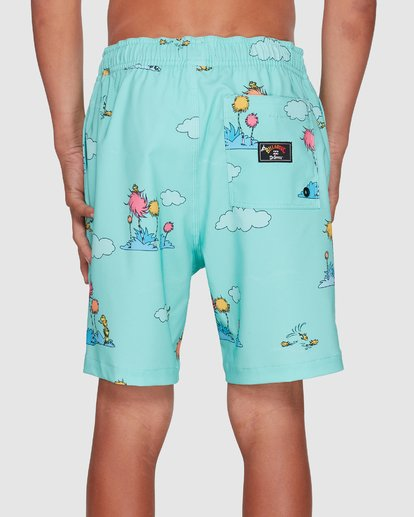 5 Dr. Seuss Lorax Sundays Layback Boardshorts Green 8508401 Billabong