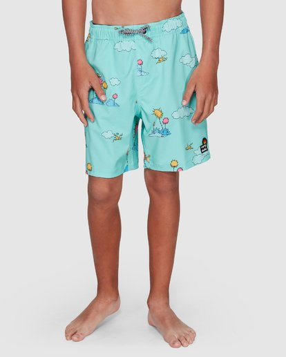 9 Dr. Seuss Lorax Sundays Layback Boardshorts Green 8508401 Billabong
